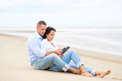 Couple Reading Book Stock Image