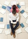 Couple reading a book Stock Photo
