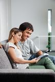 Couple Reading Book Stock Images