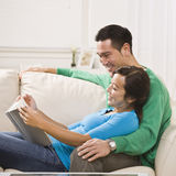 Couple Reading Together Stock Image