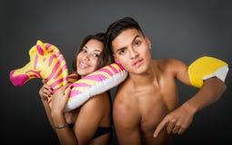 Couple ready for summer Stock Photos