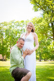 Couple Ready to Be Parents Stock Photos