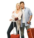 Couple ready to travel Stock Photography