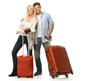 Couple ready to travel Stock Photo
