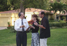 Couple with real estate agent Stock Photos