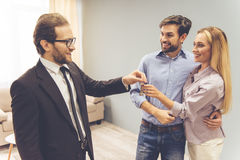 Couple and a realtor Royalty Free Stock Photography