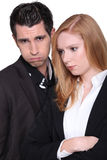 Couple receiving disappointing news Stock Photo