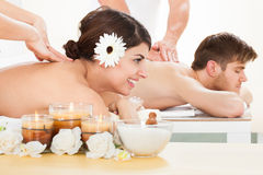 Couple Receiving Massage At Spa Royalty Free Stock Image