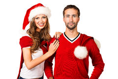 Couple in red Stock Images