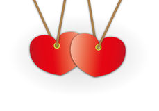 Couple red heart pattern advertise Royalty Free Stock Images