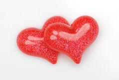 Couple of red hearts Royalty Free Stock Images