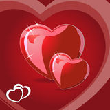 Vector love heart. Valentine`s day card Stock Photos
