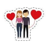 Couple red hearts balloon. Illustration eps 10 Stock Photo