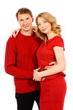 Couple in red Royalty Free Stock Photography