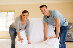 Couple redecorating home Stock Photography