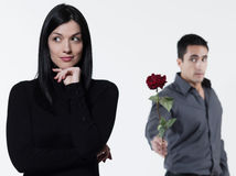 Couple relationship difficulties Royalty Free Stock Image