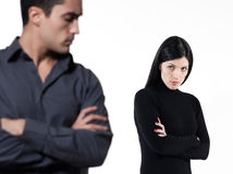 Couple relationship difficulties Royalty Free Stock Photography
