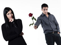 Couple relationship difficulties Royalty Free Stock Photo