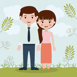 Couple relationship portrait design Royalty Free Stock Photography