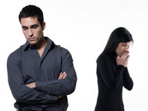 Couple relationship problems dispute woman crying Stock Photography
