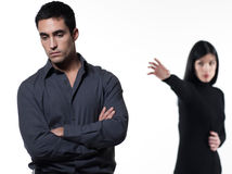 Couple relationship problems dispute woman upset Royalty Free Stock Photography