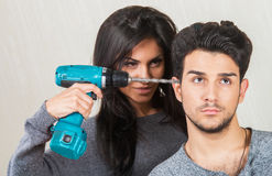 Couple relationships - conflict concept Stock Photography