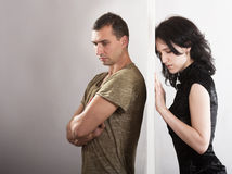 Couple relationships - conflict concept Royalty Free Stock Photo