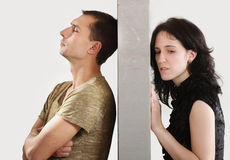 Couple relationships - conflict concept Stock Photo