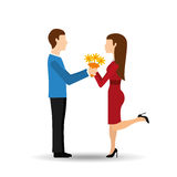 Couple relationships design. Illustration eps10 graphic Royalty Free Stock Images