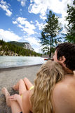 Couple Relax Banff Royalty Free Stock Images