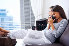 Relaxing couple Royalty Free Stock Photos