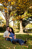 Couple Relax Park Stock Photo