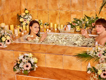 Couple relax  at spa with flower Stock Photography