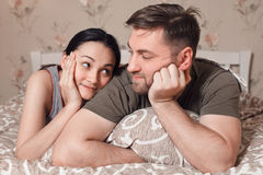 Couple relaxation concept. Royalty Free Stock Image