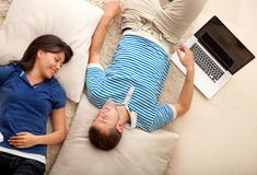 Couple relaxing Royalty Free Stock Photos
