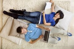 Couple relaxing Royalty Free Stock Photo