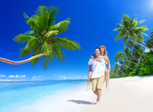 Couple Relaxing Beach Dating Couple Concept Royalty Free Stock Images