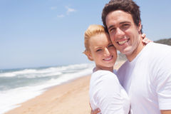 Couple relaxing beach Royalty Free Stock Photos