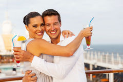 Couple relaxing cruise Royalty Free Stock Photography