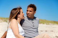 Couple Relaxing and Enjoying Their Summer Vacation Royalty Free Stock Photos