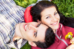 Couple Relaxing Royalty Free Stock Photography