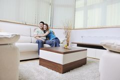 Couple relaxing at home Royalty Free Stock Photo