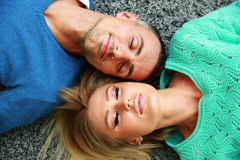 Couple relaxing Stock Images
