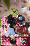 Couple Relaxing On Picnic Blanket Royalty Free Stock Image