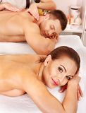 Couple relaxing in spa. Royalty Free Stock Photography