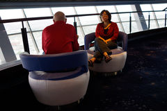 Couple relaxing at the Stratosphere, Las Vegas Stock Photo