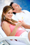 Couple relaxing on vacation Stock Photo