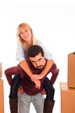 Couple on Relocation Stock Photos