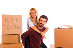 Couple on Relocation Stock Photography