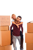 Couple on Relocation Stock Images